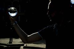 La iluminacin (Lola Ylo) Tags: barcelona shadow people silhouette outdoor montjuc crystalball