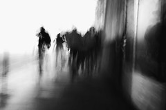 The Looming Rabble (Places, Faces) Tags: street city uk people urban blackandwhite bw motion blur streets building london monochrome composition outdoors photography mono shadows britain centre crowd central perspective streetphotography silhouettes streetscene compo borough streetphoto capture lowkey peoplewatching rabble urbanstreets robmchale