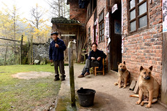 Country life (MelindaChan ^..^) Tags: life china dog man rural village guilin country chinese farmer guangxi