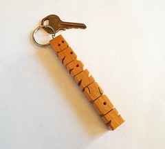 Cherry Wood Name Keychain (DustyNewt) Tags: wood cherry wooden keychain personal handmade name letters custom branson woodworking personalized fob keyfob madetoorder dustynewt
