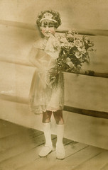 grandmom - queen of the jitneys (Doctor Casino) Tags: color evelyn atlanticcity bouquet judy pageant tinted grandmom florentine godel girth