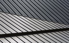 Illusory curvature (Paul Buckingham) Tags: roof canada abstract detail lines architecture edmonton alberta