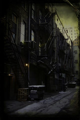The Morning After (DharmaCrow) Tags: urban alleys