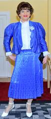 Birgit021812 (Birgit Bach) Tags: shiny skirt blouse suit satin pleated ruffled kostm glnzend faltenrock rschenbluse