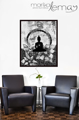 Bouddha noir et blanc (Marika Lemay) Tags: new flowers white house plant black orchid home leather wall architecture modern table design living hall wooden office chair realestate flat bright furniture contemporary interior space empty room seat lounge indoor nobody surface clean couch pot sofa blank flowerpot copyspace minimalism armchair decor residential potted hardwood stylish houseplants marquetry luxurious