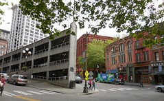 Sinking Ship Parking Garage (jiff89) Tags: seattle square downtown ship bass garage parking april merchants pioneer sinking 2016
