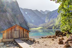Bootshaus Obersee (wai-photography) Tags: park lake canon bayern eos see berchtesgaden nationalpark sommer national land sonne hdr bootshaus knigsee obersee bgl ober knigssee berchtesgadener 60d
