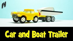 Car and Boat Trailer (MOC) (hajdekr) Tags: car truck toy boat lego small transport creation vehicle easy trailer towtruck moc legotechnic myowncreation sollution carandboattrailer