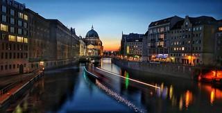 Berlin city lights