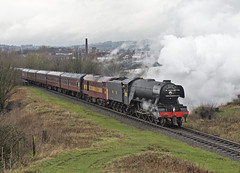 60103 Heap Bridge 09-01-16 (prof@worthvalley) Tags: flying all transport railway steam east locomotive elr types railroads scotsman lancs 60103
