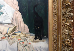 Manet, Olympia, detail with cat