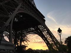 Eiffel Tower, Paris, France at evening sunset (Avensus) Tags: sunset paris france eiffeltower toureiffel