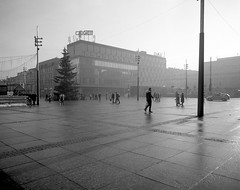Katowice, Poland. January 9, 2016. (wojszyca) Tags: street city winter urban architecture shanghai modernism poland hc110 wanderlust cameras handheld socialist epson 4x5 zenit 90mm katowice 90 largeformat 163 gossen schneiderkreuznach 4990 gp3 angulon lunaprosbc travelwide