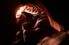 Upper Antelope Canyon Grainy Dec 27 2015 Bear Formation-3340 (houstonryan) Tags: arizona art nature print lens landscape photography utah carved nikon sandstone photographer ryan cut nation houston az canyon tokina erosion upper photograph page antelope navajo redrock slot narrow flashflood 1118mm d300s houstonryan hosutonryan pohtograph