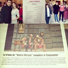 """Feliz de contribuír al éxito de #teatromargen en su casa, #oviedo, con mis composiciones musicales. <a style=""""margin-left:10px; font-size:0.8em;"""" href=""""http://www.flickr.com/photos/60002574@N04/23977077506/"""" target=""""_blank"""">@flickr</a>"""