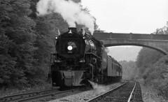 Stopped (DJ Witty) Tags: railroad blackandwhite bw nikon rr steam locomotive lackawanna 400asa blackdiamond steamlocomotive 484 railroading n8008 milwaukeeroad fujineopan