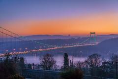 DSC04818 (Orhan Kl) Tags: morning bridge trees sea sky sunrise turkey outdoor colorfull istanbul bosphorus hisarst sonysel35mmf18 sonya6000