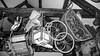 Odds and Sods (sabphotos69) Tags: leica light white black west monochrome childhood museum wales toy toys pembroke low welsh pembrokeshire pram dlux digilux