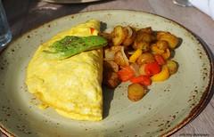 Omelette at Driftwood Kitchen (deeeelish) Tags: avocado potatoes egg hash omelette