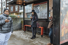 12.24, London (Ti.mo) Tags: street england people bus london mobile december phone iso400 cellphone screen busstop selected smartphone mobilephone gb islington 25mm 2015 f20 37mm 0ev peopleusingphones •••• ¹⁄₁₂₅secatf20 e25mmf2 aberdeenparkstopcx
