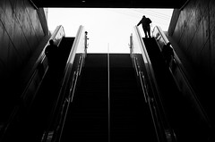 UP (cmanook) Tags: city blackandwhite bw abstract geometric lines canon subway losangeles nikon cityscape unitedstates metro elevator shapes hollywood minimalism minimalist fstop cleanlines instagram nikond5100