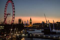 Waterloo Sunset (biddlem741) Tags: city uk sunset england london thames londoneye bigben southbank highiso jubileebridge waterloobridge matthewbiddle