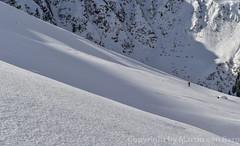 Ski touring with fresh powder (martinvonberg) Tags: schnee winter ski tirol sterreich berge schatten wandern wanderer einsam skitour steilwand at kitzbheleralpen nordtirol aurachbeikitzbhel