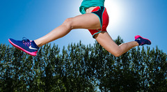 How about a splash of color (Flickr_Rick) Tags: summer woman girl outside jump jumping legs jumpology