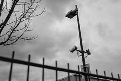 watching you... (gepixelt) Tags: camera blackandwhite bw canon fence powershot sw zaun kamera überwachung cctvcamera überwachungskamera schwarzweis g7x powershotg7x canonpowershotg7x