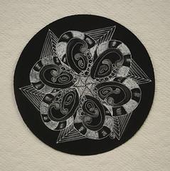 no290 (aaspforswestin) Tags: project pattern zia zenstone 365project blacktile zentangle zendala tanglepattern whitecharcoalpencil zentangleproject