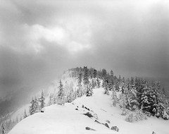 We never knew that the heavens we kept we stole (Zeb Andrews) Tags: winter oregon mediumformat landscape blackwhite snowy mthood pacificnorthwest kodaktrix 6x7 wilderness tomdickandharry pentax67 filmisnotdead