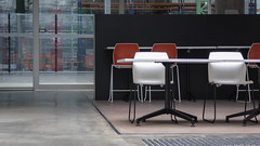 Study Room (Theen ... busy) Tags: park college glass metal concrete lumix education doors chairs room study tables adelaide panels trades tafe tonsley theen technicalandfurthereducation