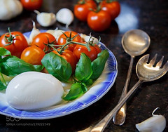 Props for Dinner! (jamiemonsteroo) Tags: red food cheese canon tomato photo good assignment tasty basil theme 24105l 500px ifttt