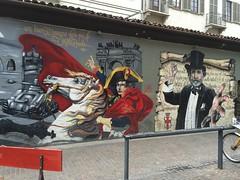 (dallapozzachiara) Tags: italy milan art colors italia arte milano graffito colori napoleone