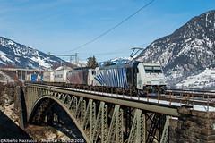 Lokomotion 185 662 + 189 905 Angertal (Alberto Mazzucco) Tags: train rail zug ponte 905 treno 185 189 rtc brucke treni angertal ekol 662 lokomotion ekolzug