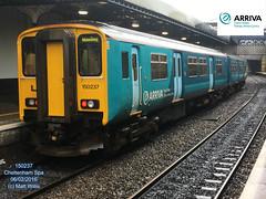 ARRIVA TRAINS WALES 150237 PLATFORM 2 CHELTENHAM SPA 06022016 (MATT WILLIS VIDEO PRODUCTIONS) Tags: 2 wales platform trains spa cheltenham arriva 150237 06022016