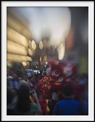 noise for the monkey 2 (Andrew C Wallace) Tags: distortion blur festival chinatown dragon bokeh streetphotography australia melbourne olympus chinesenewyear victoria drama omd yearofthemonkey tiltshift m43 em5 modifiedlens microfourthirds