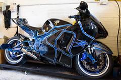 Busa 2016 (Carronvalley Motorcycle Club) Tags: blue black bike paint outdoor fast motorbike motorcycle custom hayabusa busa