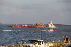 Texas City Dike (West Beach Sunset) Tags: summer water canon bay fishing texas tide transportation tugboat summerfun texascity navigation dike gulfcoast shipchannel texascitydike sooc baywaters coastalphotos eos60d lv008
