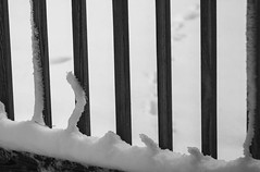 Snow on Balusters (smfmi) Tags: winter snow pentax deck ks2 snowsculpture balusters baluster snowondeck