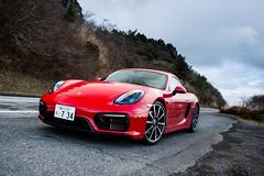 Porsche Cayman GTS (Mariosdog) Tags: red sports car japan photography tokyo nikon mt mr automotive porsche cayman turnpike manual mazda kanagawa hakone transmission freelance gts d600