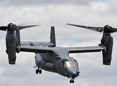 CV-22 Osprey (Bernie Condon) Tags: uk rescue tattoo plane flying display aircraft aviation transport cargo assault airshow boeing usaf osprey airfield ffd fairford specialforces airlift riat tiltrotor raffairford airtattoo cv22 vstol riat15