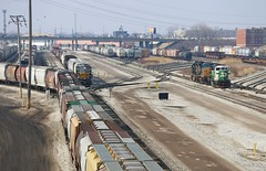 A View from Pulaski (BravoDelta1999) Tags: railroad chicago yard illinois railway bn brc bnsf clearing 232 burlingtonnorthern emd sd60m burlingtonnorthernsantafe gp40 1424 beltrailwayofchicago