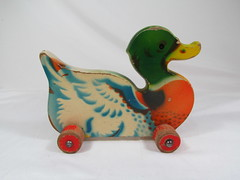 1950s VISSO Duck Pull Toy (Brickadier General) Tags: wood vintage toy toys pull wooden duck lego antique german 1950s ddr holz spielzeug holzspielzeug visso not verhofa gecevo