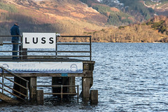 Waiting on the (water) bus (Chris B70D) Tags: blue chris trees winter light sky sun snow mountains west water clouds canon reflections drive coast scotland scenery day air photographers fresh hangover adventure seeing valentines sight roads loch plans lomond alternative lochs 70d berridge