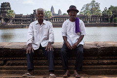 Angkor Wat - Wonder of the World (virtualwayfarer) Tags: world travel portrait people lake heritage water overgrown canon temple site asia cambodia cambodian locals ruin posing oldman places angkorwat unesco adventure elderly jungle temples local siemreap angkor moat canondslr tombraider worldheritage ruined oldmen lostcity siamreap archaeologicalsite solotravel hiddencity khamer canon6d