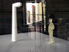 Raster (Merodema) Tags: door man reflection figurine deur observant lijnen bewogen weerspiegeling hekwerk vaag meneer toeschouwer figuurtje wachtsje