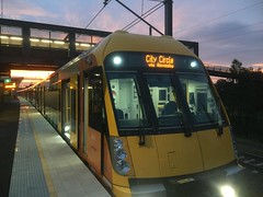 Waratah at sunset (CubOz) Tags: sunset train transport sydney rail trains waratah macarthur
