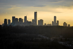 Chester Hill Lookout (Marcanadian) Tags: city winter toronto ontario canada skyline one march construction downtown cityscape hill lookout chester valley don ravine bloor yorkville broadview 2016