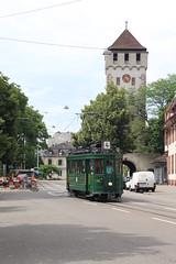215 (KennyKanal) Tags: tram basel oldtimer grn bvb basler verkehrsbetriebe schienenfahrzeug drmmli